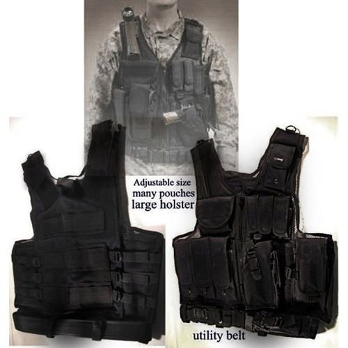 Black Tactical Vest