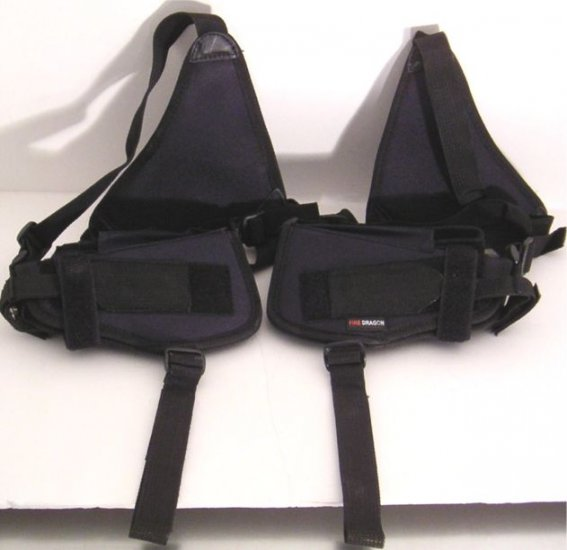 Black Shoulder Holster w/2 Holsters