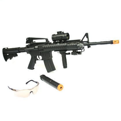 M-16 style airsoft assault rifle is FULLY AUTOMATIC