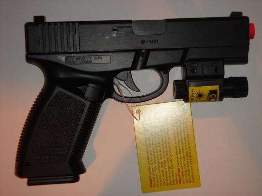 Panther BI-1481A Glock Handgun w/ Laser