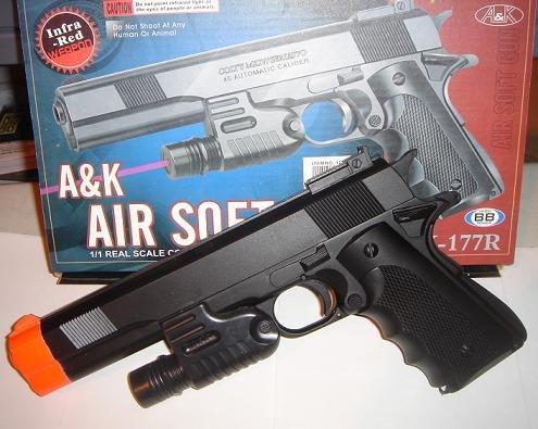 """10"""" Handgun w/ Built in Laser"""