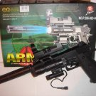 Airsoft Handgun w/Laser, Tactical Light, Scope, and Silencer