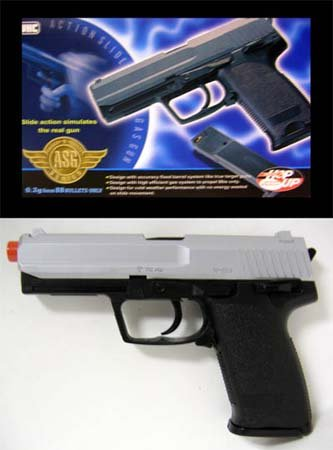 Two Tone Slide Action UHC UG-161 GAS Airsoft Gun