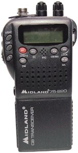 Midland 75822 Mini 40-channel CB With Weather/all-hazard Monitor & Mobile Adapter