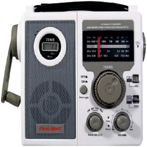 First Alert CR-100 Crank Radio with 3-Way Power