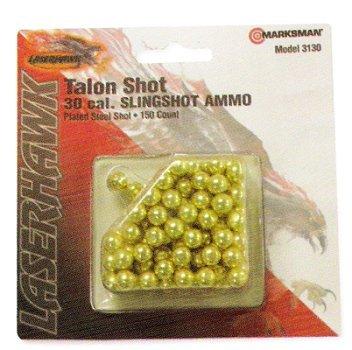 Marksman Laserhawk .30cal Gold Steel Shot Slingshot Ammo
