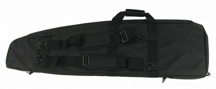 Air Gun Inc Tactical Air Rifle Case Black Cordura w/Carry Handle & 3 Side Pockets