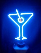 "12"" x 7"" Neon Martini Glass Sign FREE SHIPPING NEW"