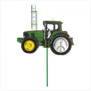 John Deere Weather- Gauge Garden Stake