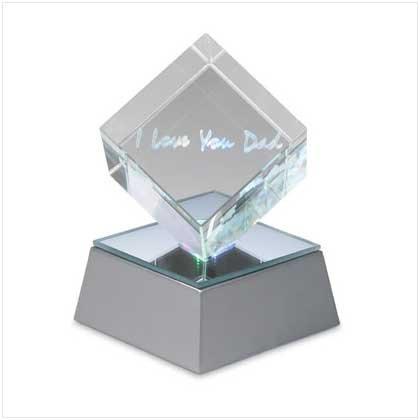 Love U Dad Cube with Led Base