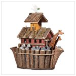 WOOD NOAH ARK'S BIRDHOUSE