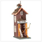 2 STORY FIRE STATION BIRDHOUSE