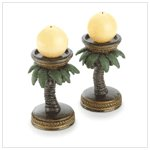 Palm Tree Candleholders - Pair
