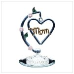 GLASS HANGING MOM HEART