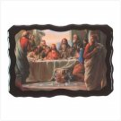 LAST SUPPER WOOD CLOCK