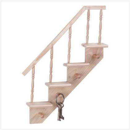 WOOD STAIRCASE SHELVES