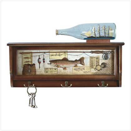 Fish Shadowbox Wood Shelf - Alab