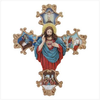 Alab. Life Jesus Scroll Cross