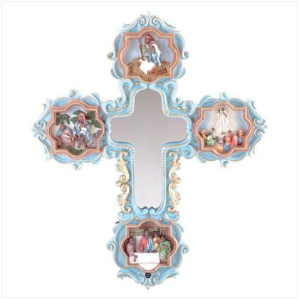 Life of Jesus Led Mirror Cross - Clearance $20 Dollar Deals