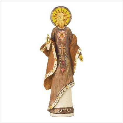 Golden Jesus Figurine - 17 Inches
