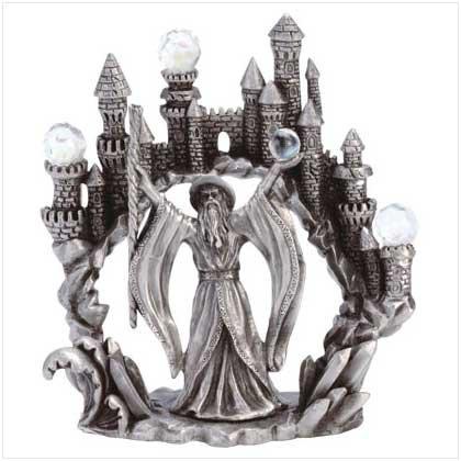Pewter Merlin & Castle