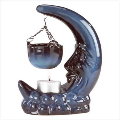 PORC MOON/HANGING DISH WARMER