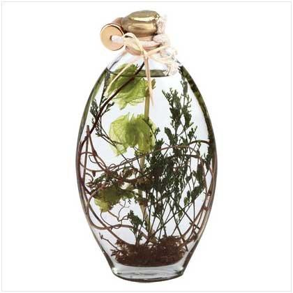 Flower/Leaves Oil Lamp Bottle