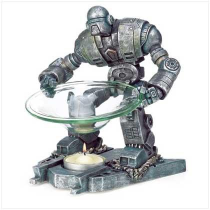 Robot Oil Warmer-Polyresin