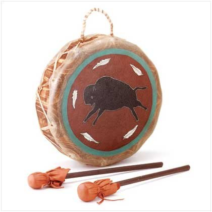 LEATHER NATIVE BUFFALO DRUM