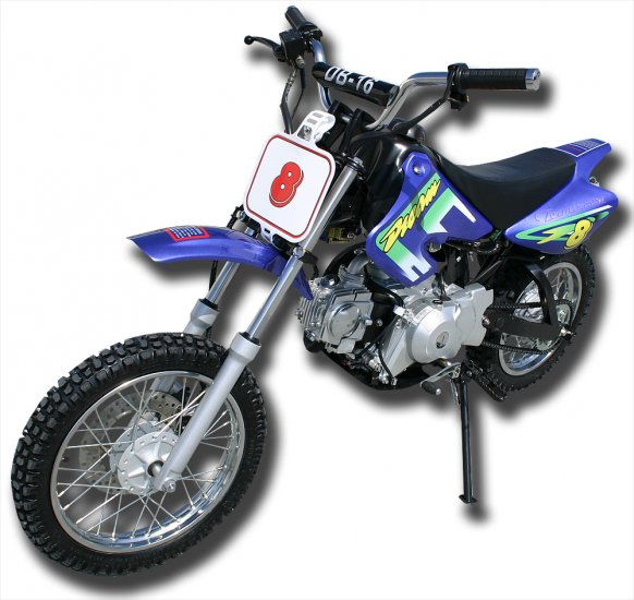 110cc - 4 Stroke Dirt Bike - Up to 37 MPH