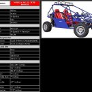 800cc - MONSTER 2 Seat Go Kart - Up to 65 MPH F/S