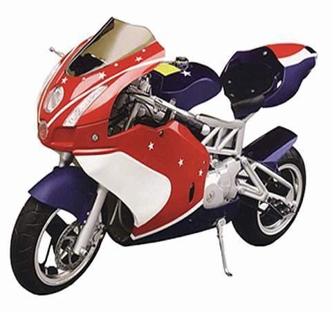 70cc - 4 Stroke - 4 Speed w/CVT Super Bike - Up to 41 MPH