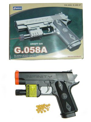 Case of 24 - Galaxy G-058 Pistols w/ lasers