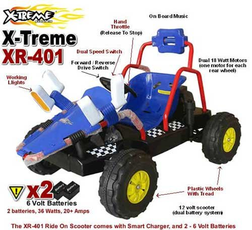 Electric xr 401 kids ride on go kart for 12 volt motor go kart