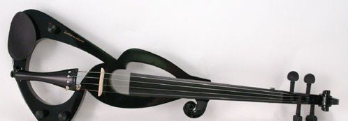 Black Electric 4/4 Violin/Fiddle+Gig Bag+Headphones NEW