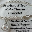 "Passion of Faith"" Bracelet Sterling Silver Mustard Seed Charm Ball brighton design"