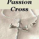 "Dad's Cross of Faith"" Man, Boys, Christian Jewelry Passion Nail Cross Pendant Necklace"