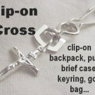 Crucifix for Men's Christian Jewelry Golf Bag Sports Bag Clip-On Charm