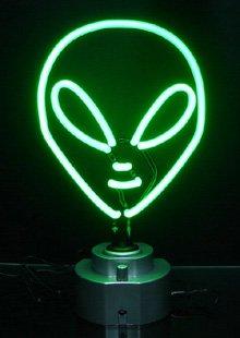 """10"""" x 12"""" Neon Alien Sign"""
