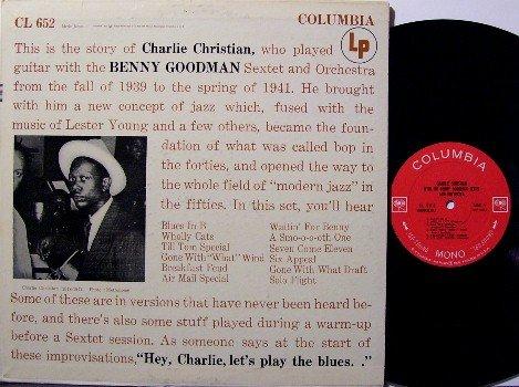 Christian, Charlie - Vinyl LP Record - Columbia 360 Label - Jazz - Mono - Promo Stamp On Cover