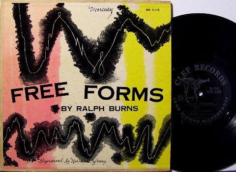 "Burns, Ralph  - The Free Forms Album - 10"" Vinyl LP Record - Clef Jazz - Lee Konitz"