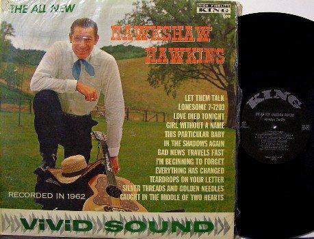 Hawkins, Hawkshaw - All New Hawkshaw Hawkins - LP Record - Orig King Records - Shrink Wrap - Country