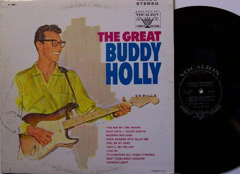 Holly Buddy The Great Buddy Holly Vinyl Lp Record