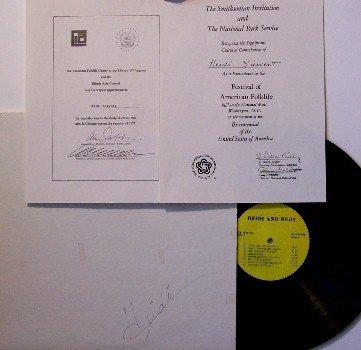 Siewert, Heidi - Heidi & Rudy - Vinyl LP Record - Autographed Cover + Inserts - Private Label - Folk