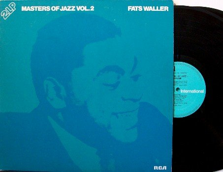 Waller, Fats - Masters Of Jazz Volume 2 - 2 Vinyl LP Record Set - German Pressing