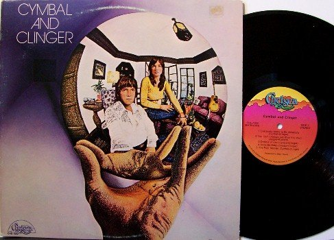 Cymbal & Clinger - Self Titled - Vinyl LP Record - Private - 1972 Jazz Rock - Psych Acid Cover Art