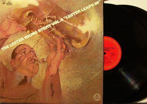 Young, Lester - Story Vol 4 Lester Leaps In - 2 Vinyl LP Record Set - Promo - Gatefold Cover - Jazz