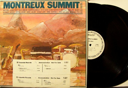 Montruex Summit Volume 1 Vinyl LP 2 Record Set - Jazz - White Label Promo DJ Timing Strip