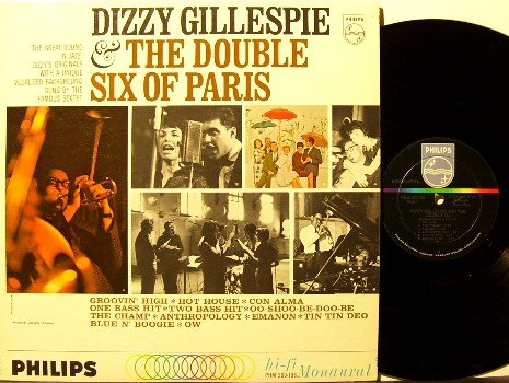 Gillespie, Dizzy - & The Double Six Of Paris - Vinyl LP Record - 6 - Mono - Jazz - Bud Powell, Moody