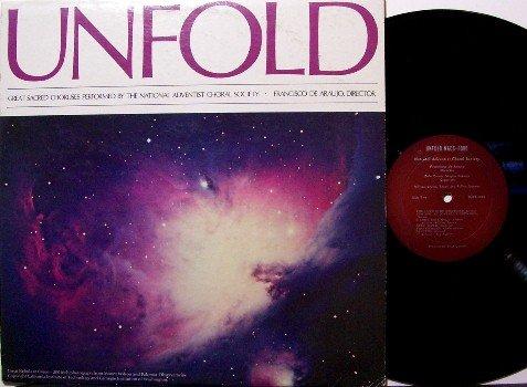 National Adventist Choral Society - Unfold - Vinyl LP Record - Christian Gospel Chorus